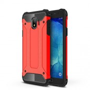 Armor Guard Plastic + TPU Hybrid Cell Phone Case Shell for Samsung Galaxy J4 (2018) - Red