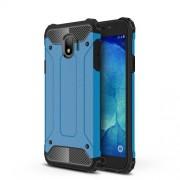 Armor Guard Plastic + TPU Hybrid Phone Casing Cover for Samsung Galaxy J4 (2018) - Baby Blue