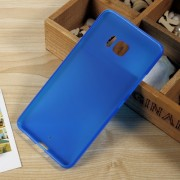 For HTC U Ultra Matte Anti-fingerprint TPU Shell Cover - Blue