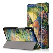 For Lenovo Tab 4 8 Plus (TB-8704F,N) Patterned Tri-fold Stand Smart Leather Case - Call of the Sea
