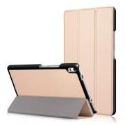 Auto Wake and Sleep Tri-fold Stand Leather Protective Cover for Lenovo Tab 4 8 Plus (TB-8704F/N) - Gold