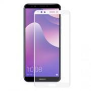HAT PRINCE Σκληρυμένο Γυαλί (Tempered Glass) Προστασίας Οθόνης Πλήρης Κάλυψης για Huawei Y7 Prime (2018) - Λευκό