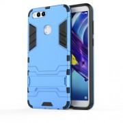 Υβριδική Θήκη Σιλικόνης TPU σε Συνδυαμό με Πλαστικό και με Βάση Στήριξης για Huawei Honor 7X - Μπλε