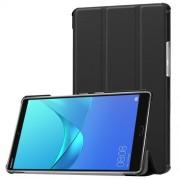 Δερμάτινη Θήκη Βιβλίο Tri-Fold με Βάση Στήριξης για Huawei MediaPad M5 8 (8.4-inch) - Μαύρο