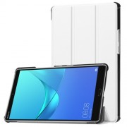 For Huawei MediaPad M5 8 Tri-fold Leather Cover with Stand - White