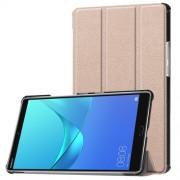 Δερμάτινη Θήκη Βιβλίο Tri-Fold με Βάση Στήριξης για Huawei MediaPad M5 8 (8.4-inch) - Ροζέ Χρυσαφί