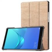 Δερμάτινη Θήκη Βιβλίο Tri-Fold με Βάση Στήριξης για Huawei MediaPad M5 8 (8.4-inch) - Χρυσαφί