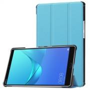 Δερμάτινη Θήκη Βιβλίο Tri-Fold με Βάση Στήριξης για Huawei MediaPad M5 8 (8.4-inch) - Γαλάζιο