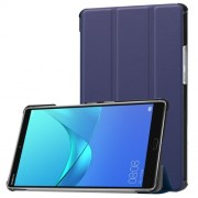 For Huawei MediaPad M5 8 Tri-fold Leather Stand Case - Dark Blue
