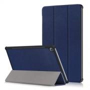 Δερμάτινη Θήκη Βιβλίο Tri-Fold με Βάση Στήριξης για Huawei MediaPad M5 10 / M5 10 (Pro) - Σκούρο Μπλε