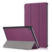 Δερμάτινη Θήκη Βιβλίο Tri-Fold με Βάση Στήριξης για Huawei MediaPad M5 10 / M5 10 (Pro) - Μωβ