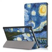 Δερμάτινη Θήκη Βιβλίο Tri-Fold με Βάση Στήριξης για Huawei MediaPad M5 10 / M5 10 (Pro) - Έναστρη Νύχτα