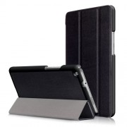 For Huawei Mediapad M3 Lite 8.0 inch Tri-fold Stand Leather Case - Black