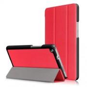 Δερμάτινη Θήκη Βιβλίο Tri-Fold με Βάση Στήριξης για Huawei Mediapad M3 Lite 8.0 (8 Inch) - Κόκκινο