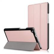 Δερμάτινη Θήκη Βιβλίο Tri-Fold με Βάση Στήριξης για Huawei Mediapad M3 Lite 8.0 (8 Inch) - Ροζέ Χρυσαφί