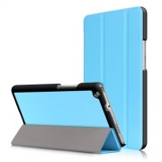 For Huawei Mediapad M3 Lite 8.0 inch Tri-fold Stand Smart Leather Shell - Baby Blue