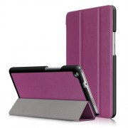 For Huawei Mediapad M3 Lite 8.0 inch Tri-fold Stand Smart Leather Cover - Purple