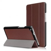 For Huawei Mediapad M3 Lite 8.0 inch Tri-fold Stand Smart Leather Case - Brown