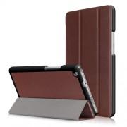 Δερμάτινη Θήκη Βιβλίο Tri-Fold με Βάση Στήριξης για Huawei Mediapad M3 Lite 8.0 (8 Inch) - Καφέ