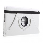 For Huawei Mediapad M3 Lite 8.0 (8 Inch) Litchi Texture 360 Degree Swivel Stand Leather Flip Case - White