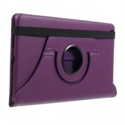 Litchi Grain 360 Degree Swivel Stand Leather Full Protection Shell for Huawei Mediapad M3 Lite 8.0 (8 Inch) - Purple