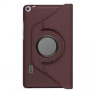 Litchi Grain 360 Degree Rotary Stand Leather Shell Case for Huawei MediaPad T3 7.0 4G - Brown