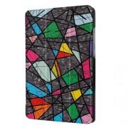 Δερμάτινη Θήκη Βιβλίο Tri-Fold με Βάση Στήριξης Huawei MediaPad T3 7.0 - Πολύχρωμα Γεωμετρικά Σχέδια