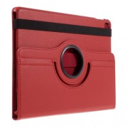 Litchi Texture Rotary Stand Leather Flip Case for iPad Pro 9.7-inch - Red