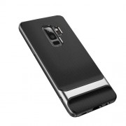 ROCK Royce Series Θήκη Σιλικόνης TPU σε Συνδυασμό με Πλαστικό για Samsung Galaxy S9 Plus SM-G965 - Ασημί