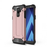 Tough Armor Υβριδική Θήκη Σιλικόνης TPU σε Συνδυαμό με Πλαστικό για Samsung Galaxy A6 Plus (2018) / J8 (2018) - Ροζέ χρυσαφί
