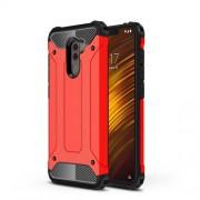 Tough Armor Υβριδική Θήκη Σιλικόνης TPU σε Συνδυαμό με Πλαστικό για Xiaomi Pocophone F1 - Κόκκινο
