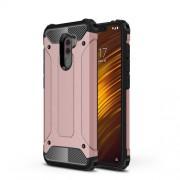 Tough Armor Υβριδική Θήκη Σιλικόνης TPU σε Συνδυαμό με Πλαστικό για Xiaomi Pocophone F1 - Ροζέ Χρυσαφί
