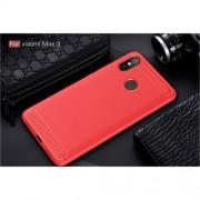 Θήκη Σιλικόνης TPU Carbon Fiber Brushed για Xiaomi Mi Max 3 - Κόκκινο