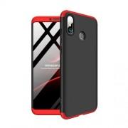 GKK 360 μοιρών Σκληρή Θήκη Ματ με Βελούδινη Υφή Πρόσοψης και Πλάτης για Xiaomi Mi Max 3 - Μαύρο / Κόκκινο