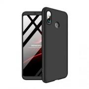 GKK 360 μοιρών Σκληρή Θήκη Ματ με Βελούδινη Υφή Πρόσοψης και Πλάτης για Xiaomi Mi Max 3 - Μαύρο