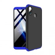 GKK 360 μοιρών Σκληρή Θήκη Ματ με Βελούδινη Υφή Πρόσοψης και Πλάτης για Xiaomi Mi Max 3 - Μαύρο / Μπλε