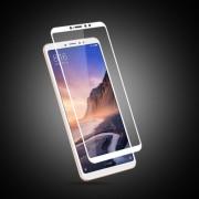 MOCOLO Silk Print Full Coverage Tempered Glass Screen Protector for Xiaomi Mi Max 3 - White