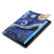 Δερμάτινη Θήκη Βιβλίο Tri-Fold με Βάση Στήριξης Huawei MediaPad T5 10 - Έναστρη Νύχτα