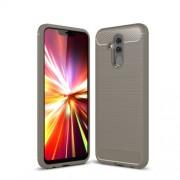 Brushed TPU Carbon Fiber Texture Phone Shell for Huawei Mate 20 Lite - Grey