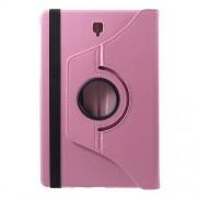 Περιστρεφόμενη Δερμάτινη Θήκη Βιβλίο με Βάση Στήριξης για Samsung Galaxy Tab S4 10.5 T830/T835 - Ροζ