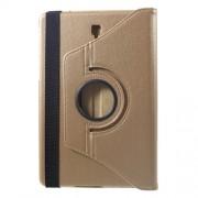 Περιστρεφόμενη Δερμάτινη Θήκη Βιβλίο με Βάση Στήριξης για Samsung Galaxy Tab S4 10.5 T830/T835 - Χρυσαφί