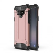 Armor Guard Plastic + TPU Hybrid Phone Shell Case for Samsung Galaxy Note 9 - Rose Gold