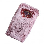 Rhinestone Soft Fur Coated TPU Protection Mobile Phone Case for Samsung Galaxy Note9 N960 - Red