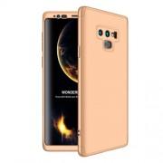 GKK 360 μοιρών Σκληρή Θήκη Ματ με Βελούδινη Υφή Πρόσοψης και Πλάτης για Samsung Galaxy Note 9 SM-N960 - Χρυσαφί