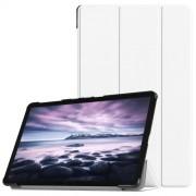 Δερμάτινη Θήκη Βιβλίο Tri-Fold Smart Cover με Βάση Στήριξης για Samsung Galaxy Tab A 10.5 (2018) T590 T595 - Λευκό
