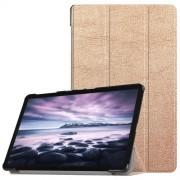 Δερμάτινη Θήκη Βιβλίο Tri-Fold Smart Cover με Βάση Στήριξης για Samsung Galaxy Tab A 10.5 (2018) T590 T595 - Χρυσαφί