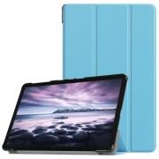 Δερμάτινη Θήκη Βιβλίο Tri-Fold Smart Cover με Βάση Στήριξης για Samsung Galaxy Tab A 10.5 (2018) T590 T595 - Γαλάζιο