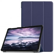 Δερμάτινη Θήκη Βιβλίο Tri-Fold Smart Cover με Βάση Στήριξης για Samsung Galaxy Tab A 10.5 (2018) T590 T595 - Σκούρο Μπλε