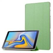 Δερμάτινη Θήκη Βιβλίο Tri-Fold με Βάση Στήριξης με Διάφανη Πλάτη για Samsung Galaxy Tab A 10.5 (2018) T590 T595 - Πράσινο
