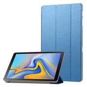 Δερμάτινη Θήκη Βιβλίο Tri-Fold με Βάση Στήριξης με Διάφανη Πλάτη για Samsung Galaxy Tab A 10.5 (2018) T590 T595 - Σκούρο Μπλε